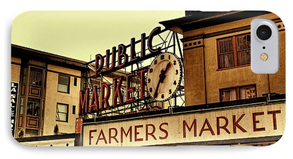 Pike Place Market - Seattle Washington Phone Case by David Patterson