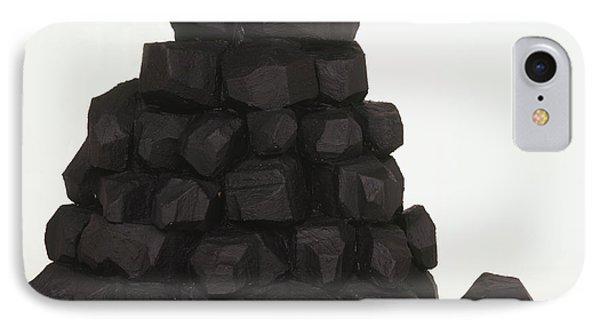 Pile Of Coal Lumps IPhone Case by Dorling Kindersley/uig