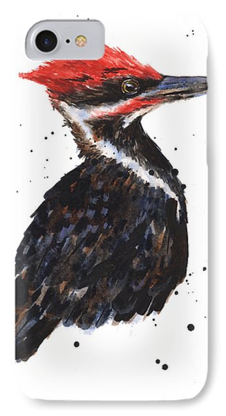 Pileated Woodpecker Watercolor IPhone 7 Case by Alison Fennell
