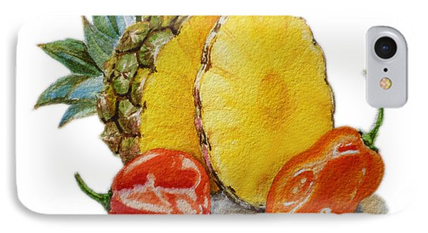 Pineapple Habanero Muy Caliente   Phone Case by Irina Sztukowski