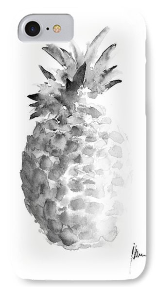Pineapple Painting Watercolor Art Print IPhone Case by Joanna Szmerdt