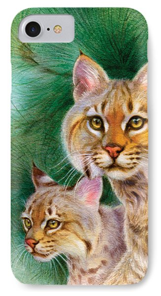 Pinewoods Bobcat Phone Case by Tracy Herrmann