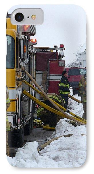 Pingree Grove Fire Department Phone Case by David Bearden
