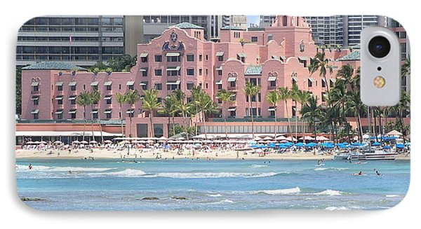 Pink Palace On Waikiki Beach Phone Case by Mary Deal