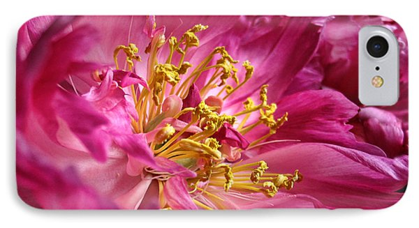 Pink Peony Flower Macro Phone Case by Jennie Marie Schell