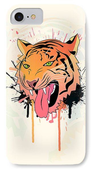 Pink Tiger  IPhone Case by Mark Ashkenazi
