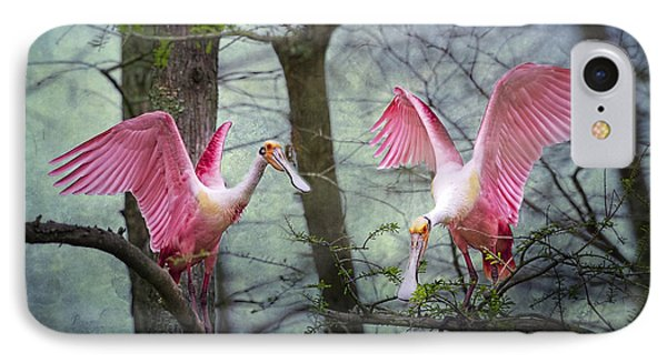 Pink Wings In The Swamp IPhone 7 Case by Bonnie Barry