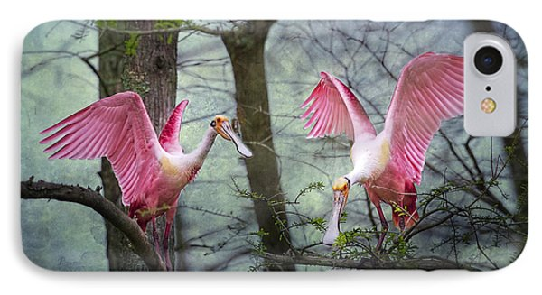 Pink Wings In The Swamp IPhone Case by Bonnie Barry