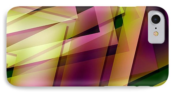 Pink Yellow And Green Geometry Phone Case by Mario Perez