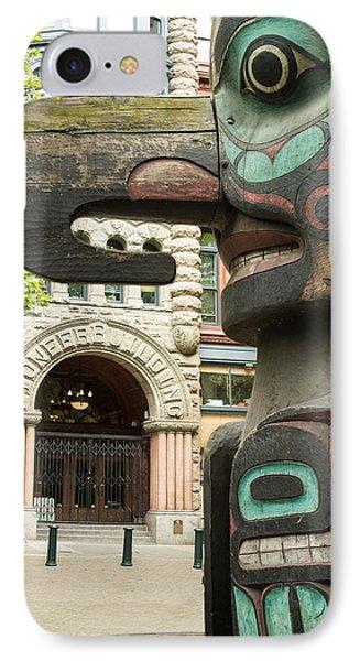 Pioneer Square Seattle IPhone Case by Steve Gadomski
