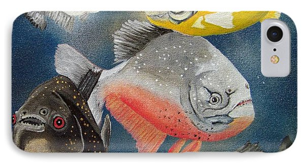 Pirahna  Fish Phone Case by Debbie LaFrance