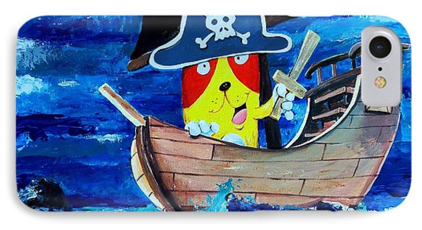 Pirate Kitty IPhone Case by Scott Nelson