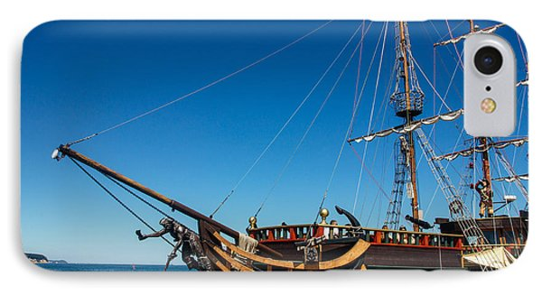 Pirate Ship IPhone Case by Pati Photography
