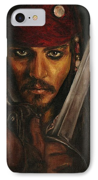 Pirates- Captain Jack Sparrow IPhone Case by Lina Zolotushko