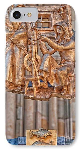 Pisces Zodiac Sign - St Vitus Cathedral - Prague IPhone Case by Ian Monk