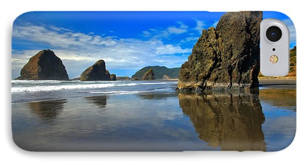 Pistol River Sea Stacks Phone Case by Adam Jewell