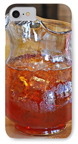 Pitcher Of Iced Tea Phone Case by Valerie Garner