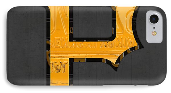 Pittsburgh Pirates Baseball Vintage Logo License Plate Art IPhone Case by Design Turnpike
