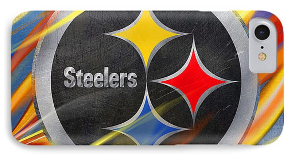 Pittsburgh Steelers Football IPhone Case by Tony Rubino