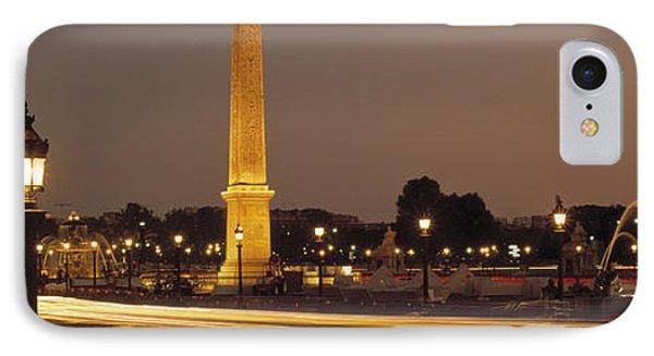 Place De La Concorde Paris France IPhone Case by Panoramic Images