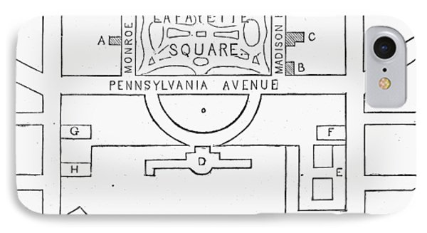 Plan Of Lafayette Square Phone Case by Granger