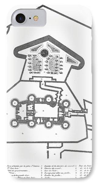 Plan Of The Bastille Phone Case by Granger