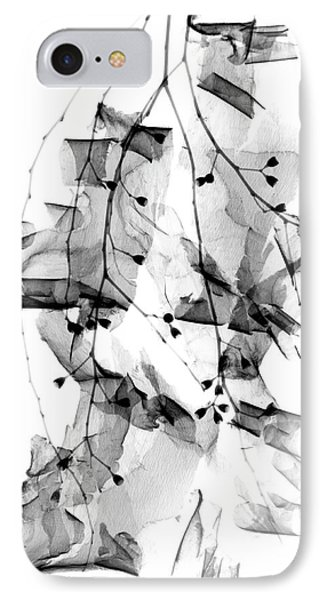 Plant Foliage And Bark Shavings IPhone Case by Albert Koetsier X-ray