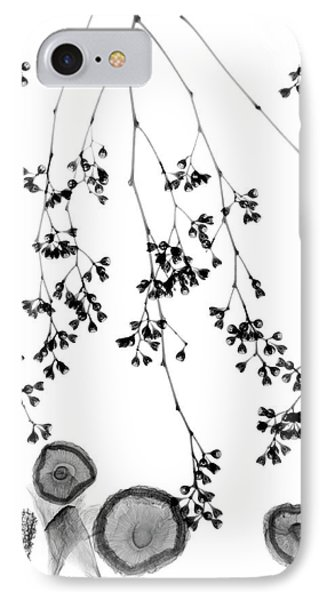 Plant Foliage And Mushrooms IPhone Case by Albert Koetsier X-ray