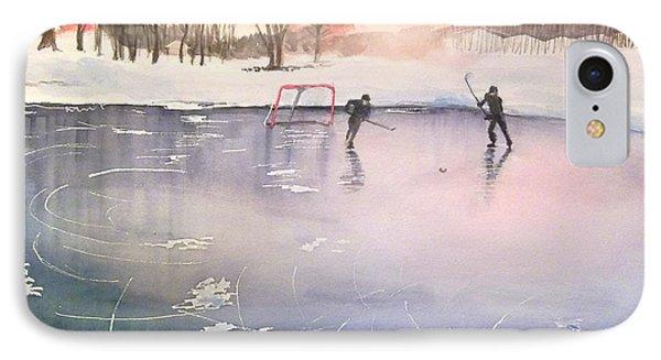 Playing On Ice Phone Case by Yoshiko Mishina