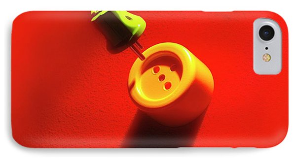 Plug And Wall Socket IPhone Case by Ton Kinsbergen
