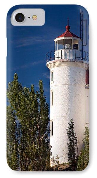 Point Betsie Lighthouse Michigan Phone Case by Adam Romanowicz