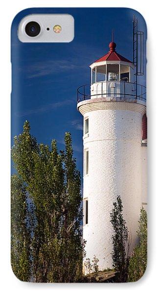 Point Betsie Lighthouse Michigan IPhone Case by Adam Romanowicz
