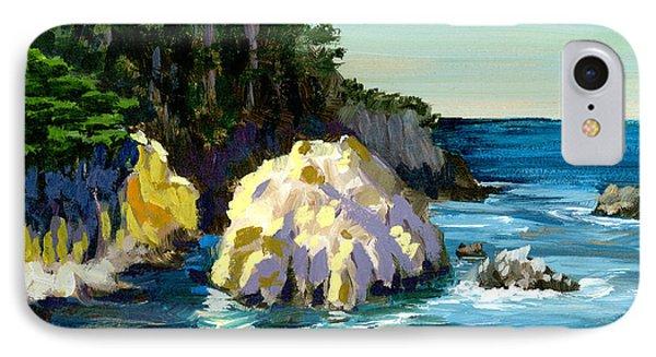 Point Lobos Rock IPhone Case by Alice Leggett