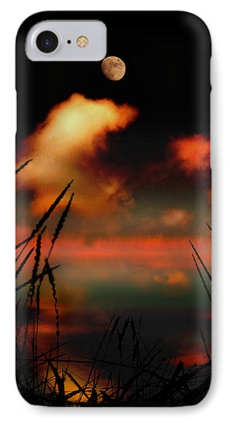 Pointing At The Moon Phone Case by Mal Bray