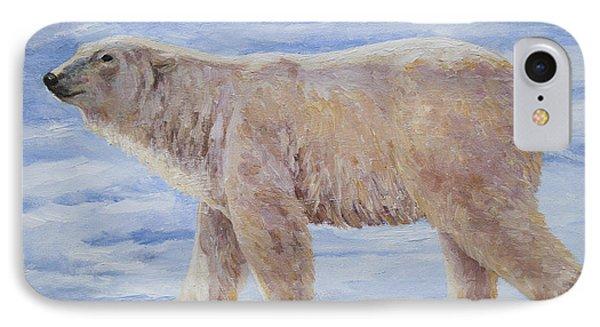 Polar Bear Mini Painting Phone Case by Crista Forest