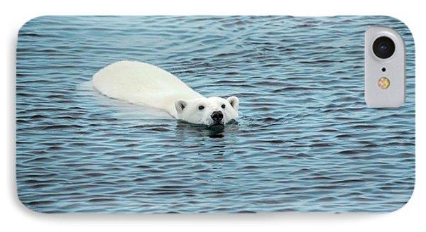 Polar Bear Swimming IPhone 7 Case by Peter J. Raymond