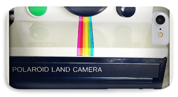 Polaroid Camera.  Phone Case by Les Cunliffe