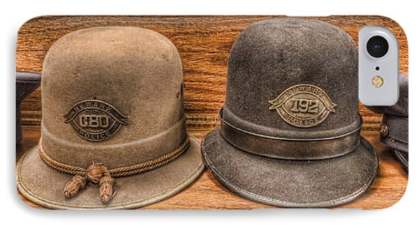 Police Officer - Vintage Police Hats IPhone Case by Lee Dos Santos