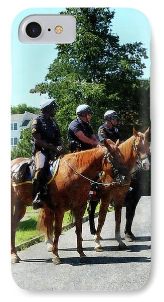 Policeman - Mounted Police Profile Phone Case by Susan Savad