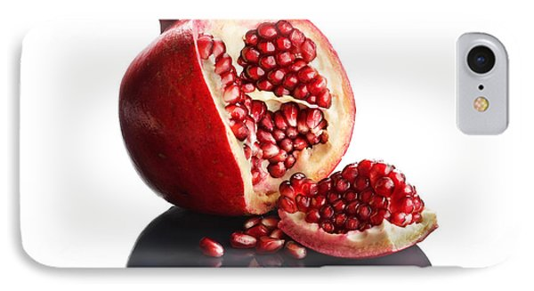 Pomegranate Opened Up On Reflective Surface IPhone Case by Johan Swanepoel
