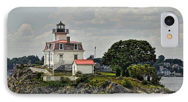 Pomham Rocks Lighthouse Phone Case by Nancy  de Flon