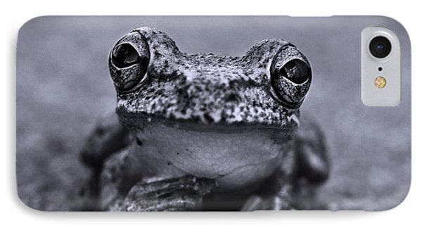 Pondering Frog Bw IPhone 7 Case by Laura Fasulo