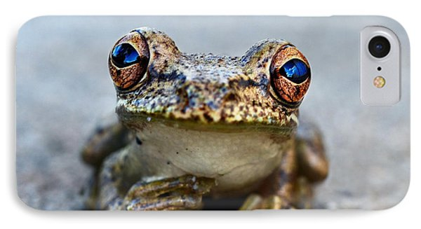 Pondering Frog IPhone 7 Case by Laura Fasulo