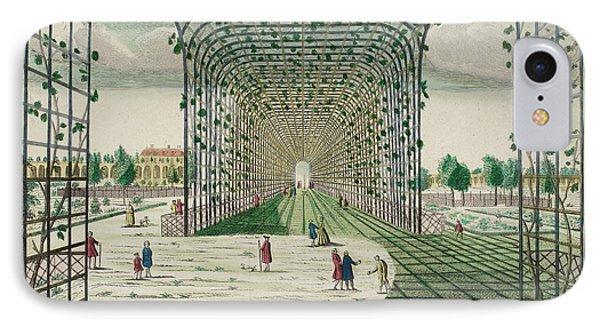 Pondicherry: Governor's Garden Trellis Ar IPhone Case by British Library