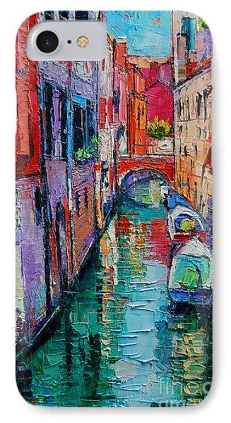 Ponte Raspi O Sansoni - Venice - Italy IPhone Case by Mona Edulesco