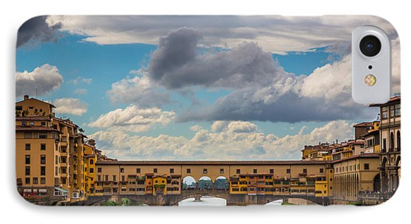 Ponte Vecchio Clouds Phone Case by Inge Johnsson