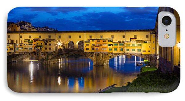 Ponte Vecchio Reflection IPhone Case by Inge Johnsson