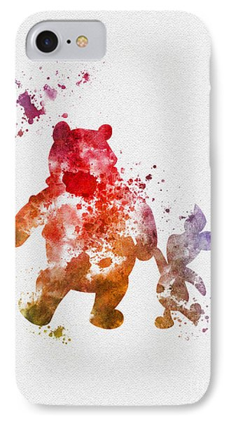 Pooh Bear IPhone Case by Rebecca Jenkins