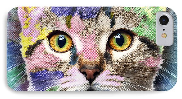 Pop Cat IPhone Case by Tony Rubino