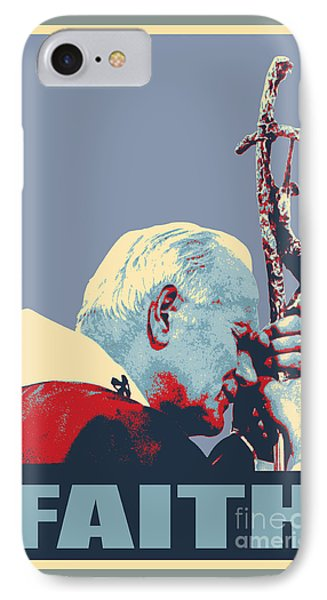 Pope John Paul II IPhone Case by Jean luc Comperat